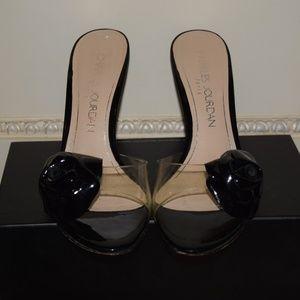 Charles Jordan Heels Size 8 with a 3 inch heel